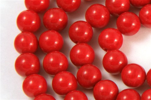 Red Coral, 6mm, Round Shape Beads
