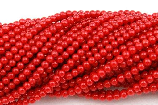 Red Coral, 2mm, Round Shape Beads