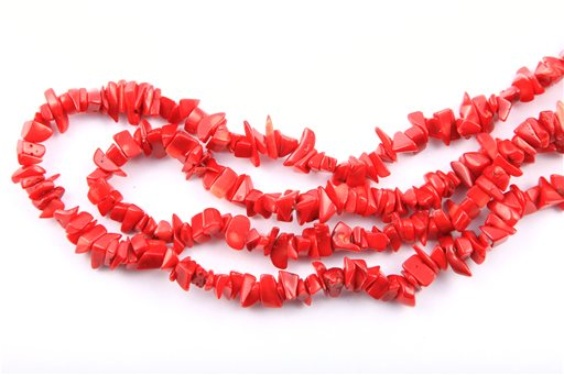 Red Coral, Irregular 8-13mm, Chips Shape Beads
