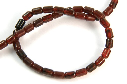 Garnet, 4x6mm, Barrel Shape Beads