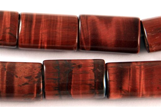 Red Tiger Eye, 10x15mm, Pillow Shape Beads