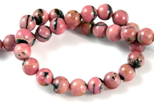Rhodonite (Black Banded), 8mm, Round Shape Beads
