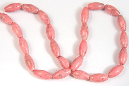 Rhodonite, 8x16mm, Rice Shape Beads