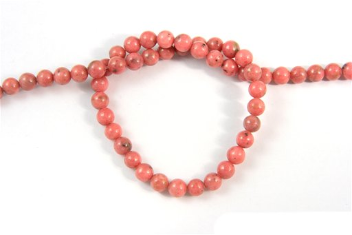 Rhodonite, 6mm, Round Shape Beads