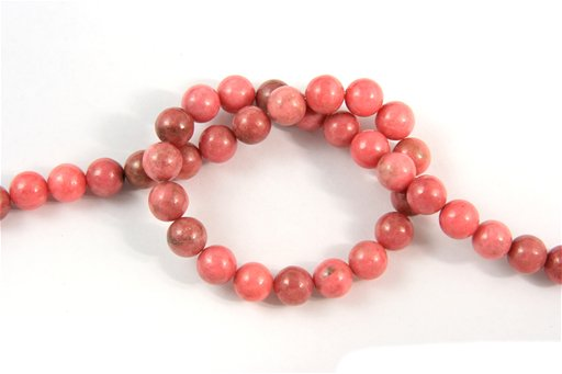 Rhodonite, 8mm, Round Shape Beads