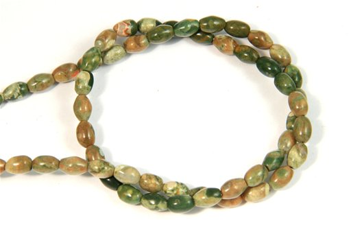 Rhyolite, 4x6mm, Rice Shape Beads