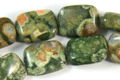 Rhyolite, 12x16mm, Puff Rectangle Shape Beads