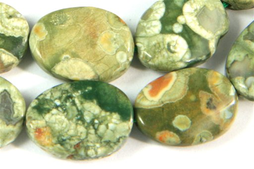 Rhyolite, 13x18mm, Twisted Oval Shape Beads
