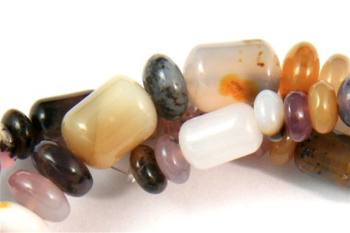 Sage Amethyst, 5-7mm, Barrel Rondelle Assorted Shape Beads