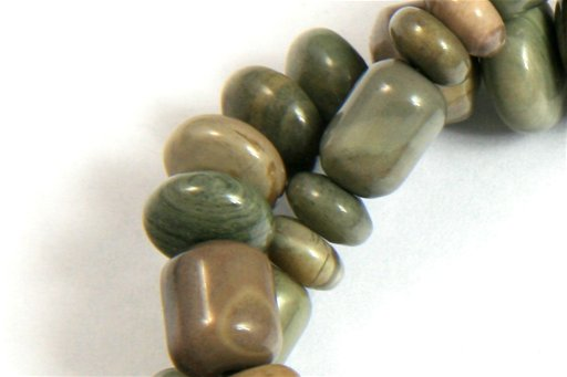 Silver Mist, 3-10mm, Barrel Rondelle Assorted Shape Beads