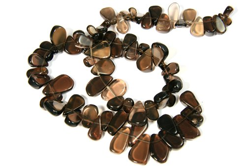 Smokey Quartz, Irregular 7-13mm, Pear Shape Beads