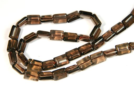 Smokey Quartz, 8x10mm, Rectangle Shape Beads