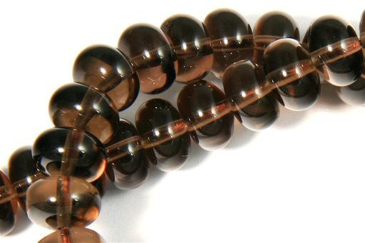 Smokey Quartz, 8mm, Rondelle Shape Beads