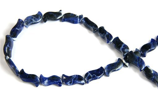 Sodalite, 10x20mm, Birdie Shape Beads