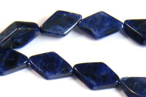 Sodalite, 6x12mm, Diamond Shape Beads