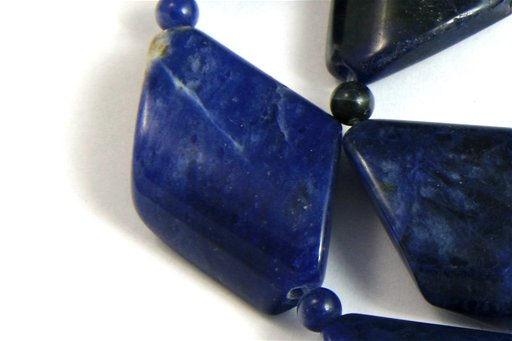 Sodalite, 20x30mm, Twisted Diamond Shape Beads