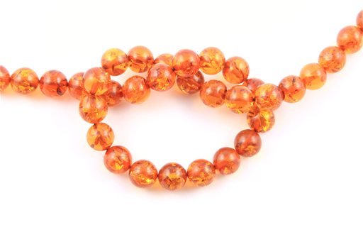 Synthetic Amber, 10mm, Round Shape Beads