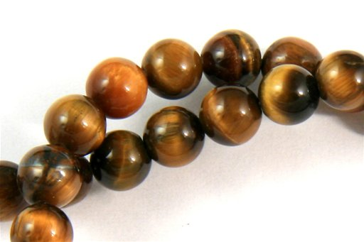 Yellow Tiger Eye, 4mm, Round Shape Beads