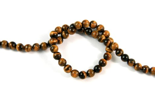 Yellow Tiger Eye, 6mm, Round Shape Beads