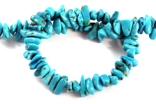 Turquoise (Genuine), Various Size, Chips Shape Beads
