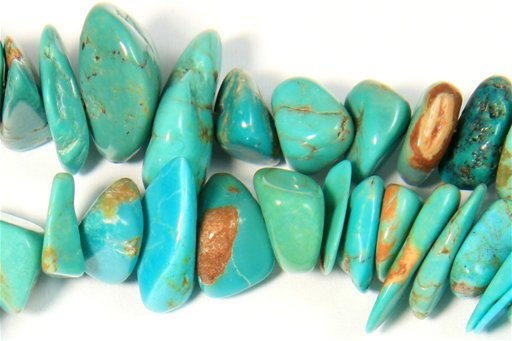 Turquoise (Genuine), Irregular 10mm, Chips Shape Beads