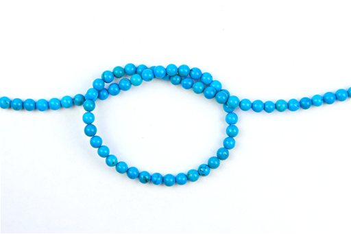Turquoise (Genuine), 4mm, Round Shape Beads