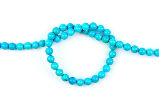 Turquoise (Genuine), 6mm, Round Shape Beads