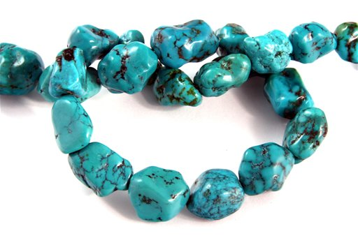 Turquoise (Genuine), 13x18mm, Nugget Shape Beads