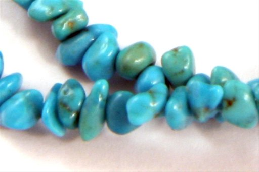 Turquoise (Genuine), Irregular 4mm, Tiny Chips Shape Beads