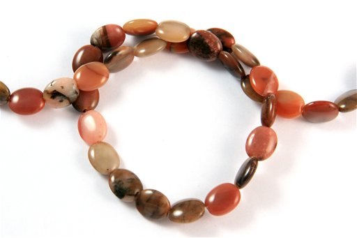 Turtle Shell Jasper, 8x10mm, Oval Shape Beads