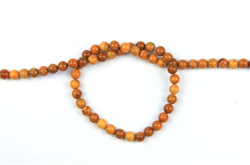 Yellow Jasper, 6mm, Round Shape Beads