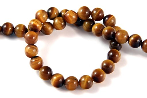 Yellow Tiger Eye, 8mm, Round Shape Beads
