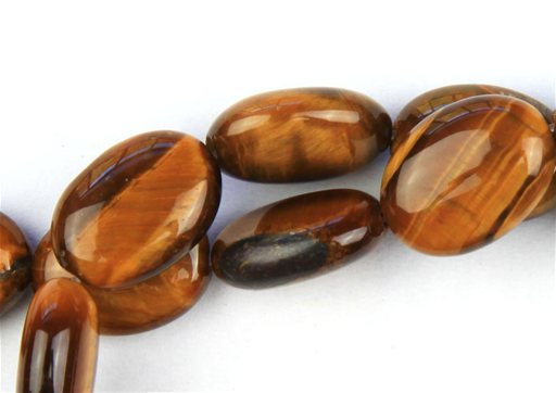 Yellow Tiger Eye, 10x14mm, Oval Shape Beads