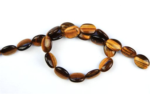 Yellow Tiger Eye, 12x16mm, Oval Shape Beads