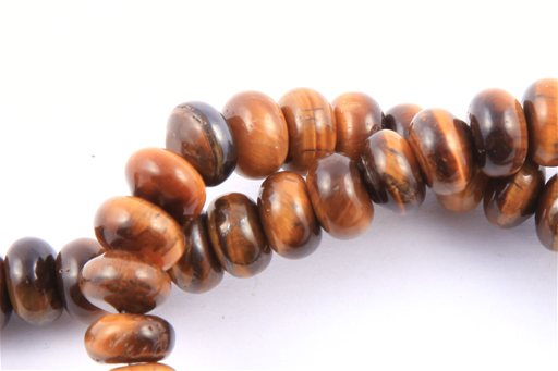 Yellow Tiger Eye, 8mm, Rondelle Shape Beads