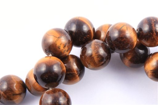 Yellow Tiger Eye, 15mm, Round Shape Beads