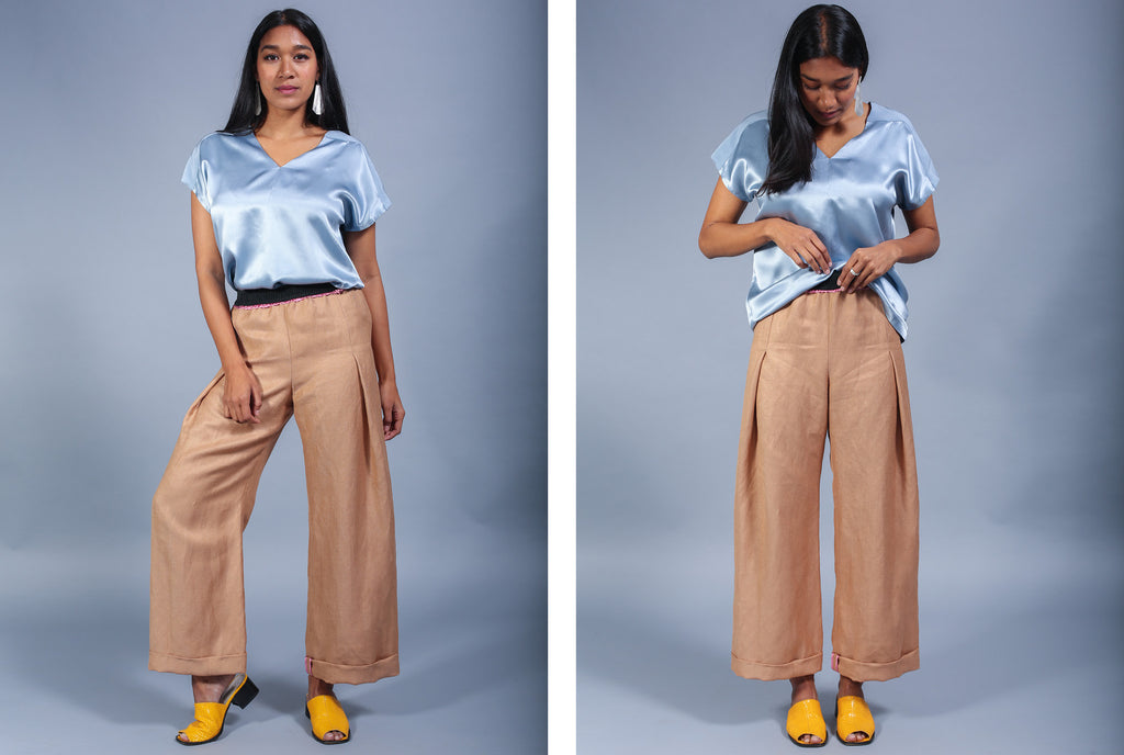 Hex Pleat Pant - Bronze