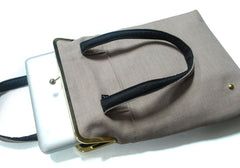 13'' laptop bag with straps - Beige