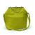 Lemon Green - Gold/Nickel Big Fold Clutch Bag - woman bag, removable strap