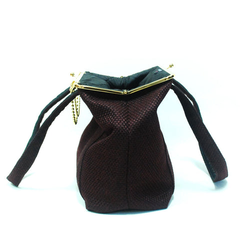 Day Clutch - woman bag with straps Bourdeaux - Gold/Nickel