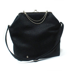 Black - Gold/Nickel Big Fold Clutch Bag - woman bag, removable strap
