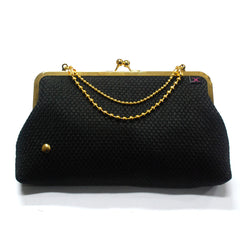 Black SQ Evening Clutch