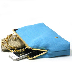 Light Blue Evening Clutch