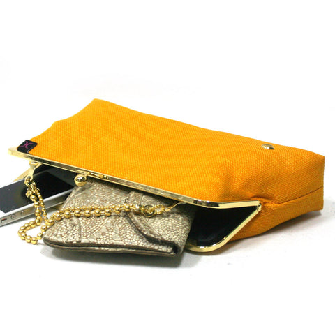 Yellow Evening Clutch