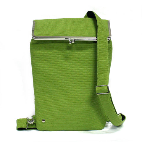 Green Backpack for laptop
