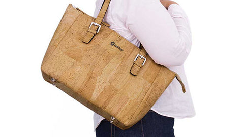 Cork Satchel in Natural