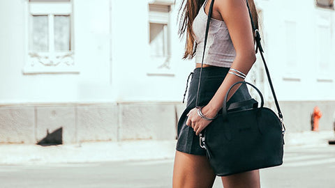Cork Crossbody in Black