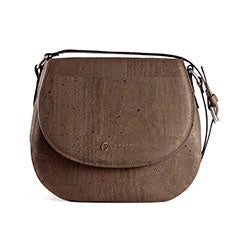 Cork Saddle Bag in Brown