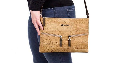 Natural Cork Small Crossbody