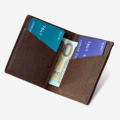 Minimalist Cork Wallet Brown